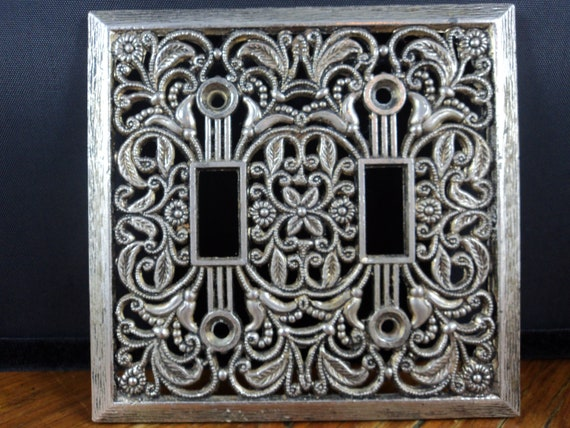 Items Similar To Vintage Brass Decorative Double Light