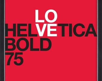 Helvetica I poster