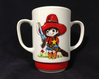 Vintage Cowgirl Child's Cup