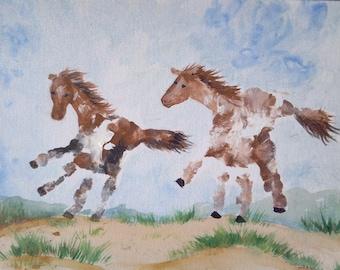 Custom Hand Print or Foot Print Art Artwork Painting Keepsake Momento