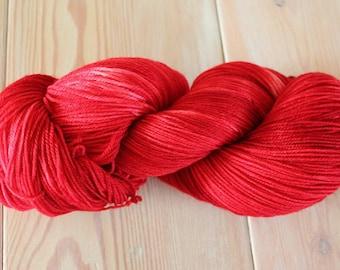 Summer Strawberries Merino Superwash Sock Yarn - Moon Stone Farm