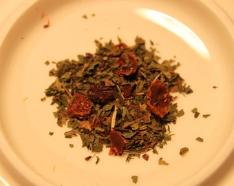 Herbal: Inspiration Herbal Tea Tisane - Peppermint, Rose Hips, Rose Petals (No Caffeine / Decaf)