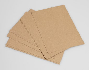 Recycled Brown Kraft Card  A4 300gm ( pack of 50 sheets)