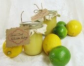 Key Lime Curd and Lemon Curd-  Gift Set of two- 8 oz. jars- One each of Fresh Key Lime Curd and Lemon Curd by The Backdoor Bakery