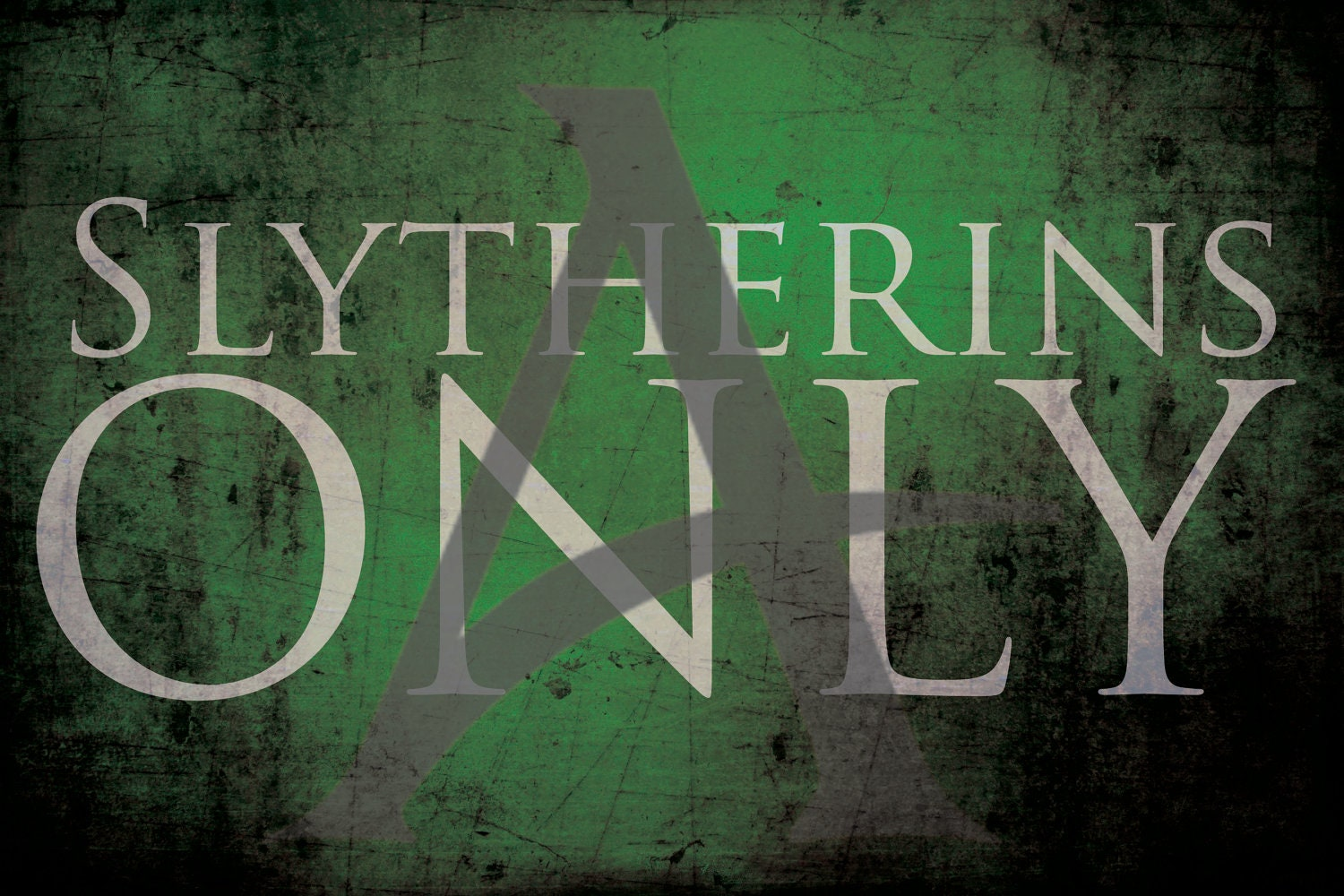 Slytherins Only Poster