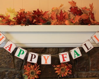 HAPPY FALL Thanksgiving Banner