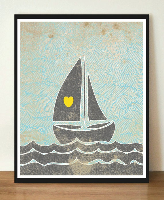 Love Of The Sea 8x10 Art Print With Heart Studios Gift
