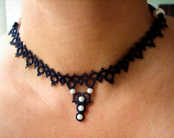 Tatted choker Perla
