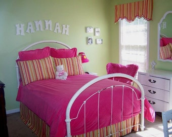 Pink stripe Bedding Set