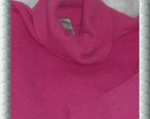100% CASHMERE Sweater Womens 1X 16 Pink SUPER Soft, Excellent Flawless, Was 225