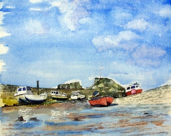 Bude beach - fine art print