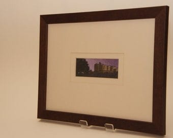 Raby Castle framed embroidered picture