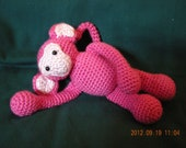 """Adorable monkey with poseable tail loves to """"hang"""" around"""