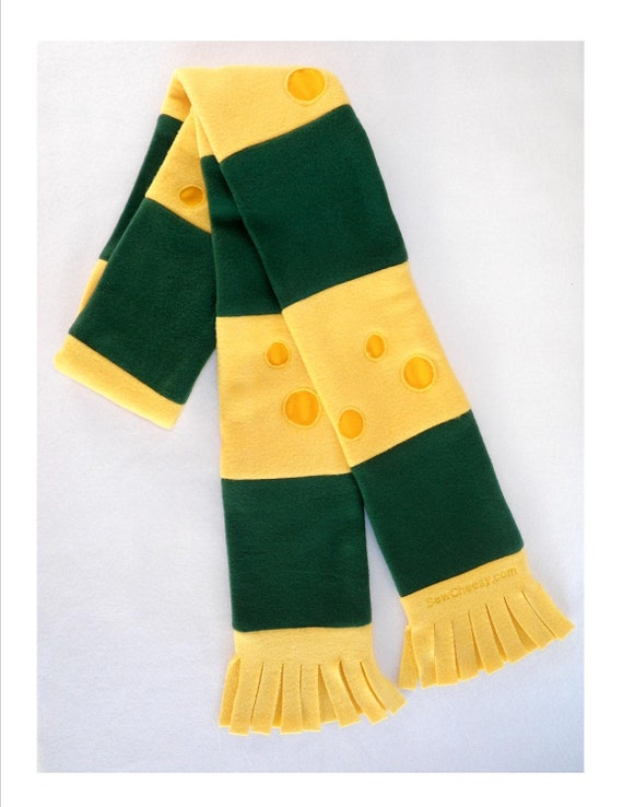 packers green and gold cheesy scarf by sewcheesy on etsy