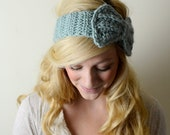 Ear Warmers / Bow Headband  - Crochet - Wool - theComfyTimes