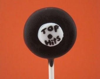 Vinyl Record Cake Pops