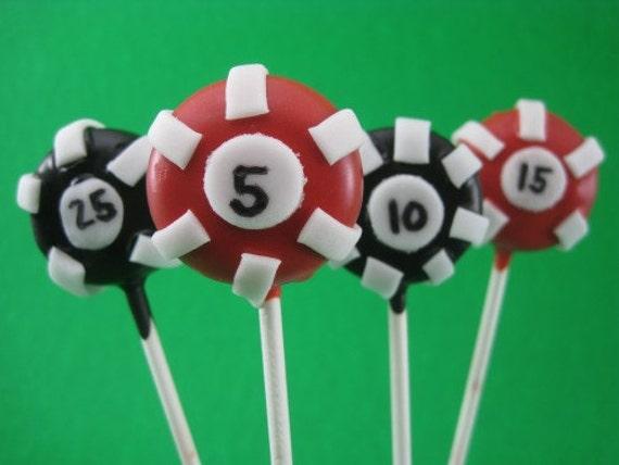 Poker Chip Cake Pops