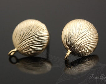 H153-Matt Gold Plated - 10 pairs post earrings
