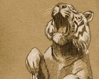 Tiger art print, 210 x 297 mm