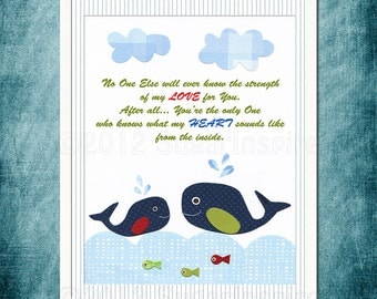 Baby room quotes, baby Room Decor- No One Else ever know... navy and green ,red, blue