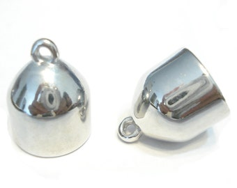 12pcs Scarf Caps Cuts Sacrf Jewelry Silver Acrylic Beads Charms Pendants Scarf Accessory In US