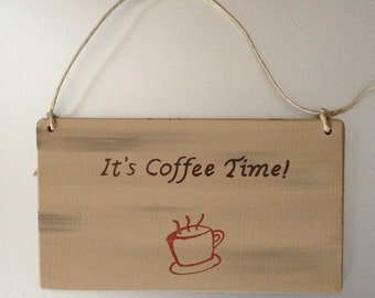 Hand made Coffee themed wall plaque