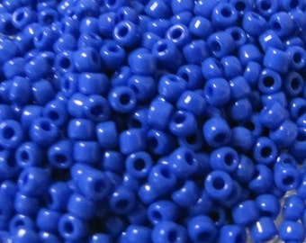 8/0 Seed Beads,  Opaque Med Blue Seed Beads, 8248 seed Beads, Blue Seed Beads, Seed Beads, Opaque Seed Beads,   Japanese 10 grams Item #281