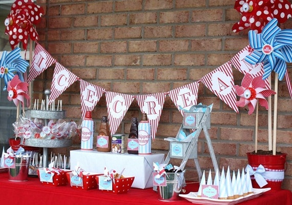 Ice Cream Shoppe as seen on HWTM...Printable Personalized Party Package
