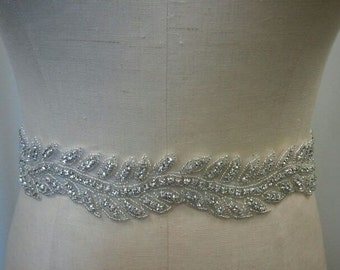 Wedding Belt, Bridal Belt, Sash Belt, Bridesmaid Belt - Crystal Rhinestone Belt - Style B144