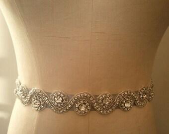 SALE - Wedding Belt, Bridal Belt, Sash Belt, Crystal Rhinestone - Style B126