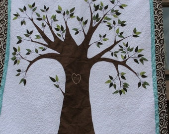 Personalized Family Tree Quilt Queen Size