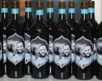 Digital wine bottle labels. Print as many as you like