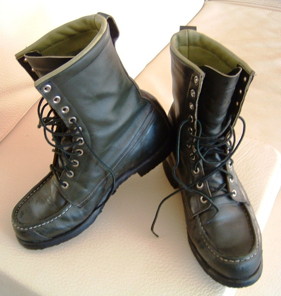 items similar to vintage green browning work boots