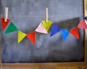Mini Felt Bunting: String of Flags