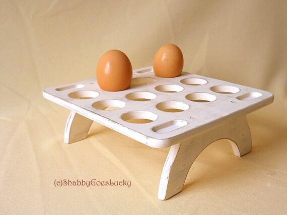 Upcycled Wooden Vintage Egg Holder Rare By Shabbygoeslucky