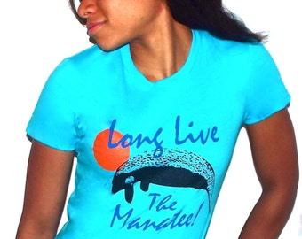 Long Live the Manatee t shirt - American Apparel