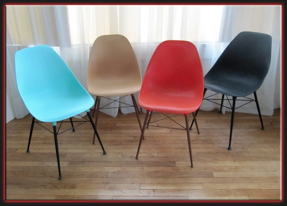Mid century modern chair plastic low ship mid century modern eames