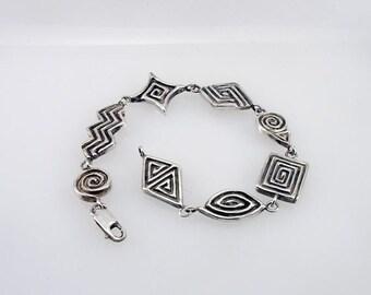 Sterling Silver Celtic Bracelet Hand Carved One of a Kind Designer Bracelet