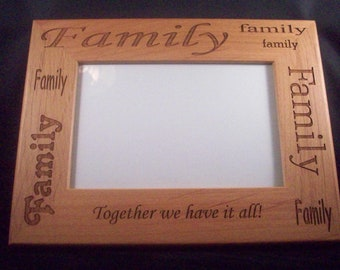 4 x 6 family picture frame