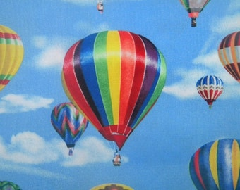 In Motion--Hot Air Ballooning fabric--by the yard--Elizabeth's Studio