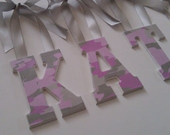 Decorative Wall Letters-Pink Camo Letters