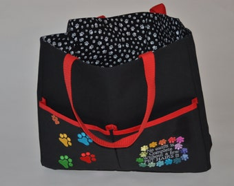 Cotton canvas Tote bag with embroidery