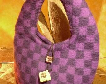 felt bag with glass button