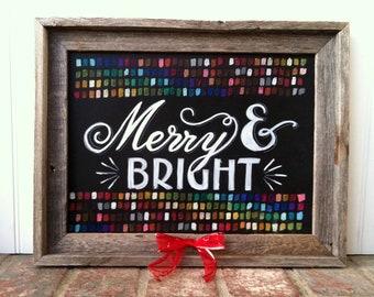 Twinkling Lights Holiday Chalkboard Art