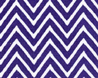 HALF YARD Small Purple Chevron Fabric Finders Cotton Fabric