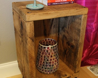 Rustic Mid-Century Night Stand/End Table - Made to Order