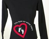 Maternity Shirts Tee Top  S,M,L,XL Pregnancy Shirts Valentines