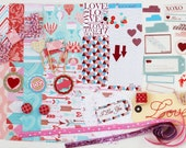 Kit for scrapbooking, card making or any crafty related - LOVE STORY