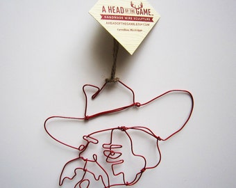 Ole Miss Colonel Reb Ornament by A Head Of The Game
