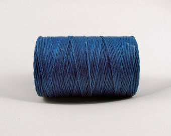 Royal Blue 4ply Irish waxed linen cord 4ply (10 yards) - blue linen cord, irish waxed linen cord, irish waxed linen thread, uk